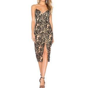 Lovers + Friends Farley lace bustier midi Dress